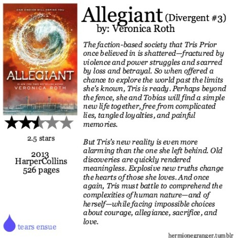 Allegiant by Veronica Roth (Divergent #3)