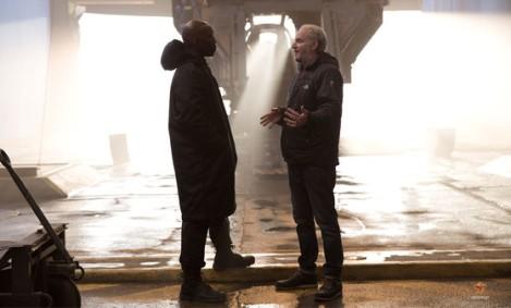 Director Francis Lawrence and Mahershala Ali